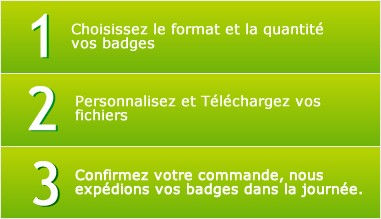 Commandez facilement vos badges